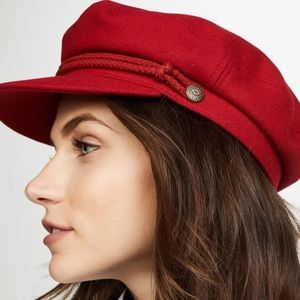 Red Brixton Ashland Cap Hat Baker Train